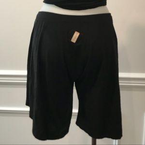 Gypsy Cotton& Modal oversized black shorts.
